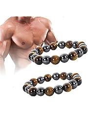 Duramen Energy Resurrect Bracelet, Tripleenergy Steelhead Men's Infrared Bracelet, 8/10mm Energy Bracelet Elease Anxiety, Bring Luck and Success for Men and Women