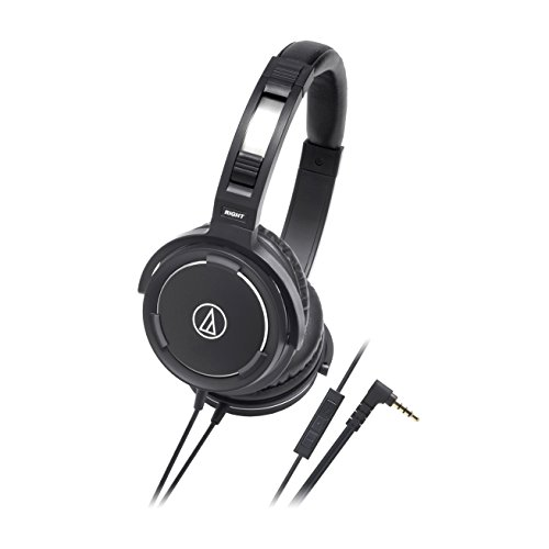 Audio-Technica ATH-WS55IBK Solid Bass Over-Ear Headset fo...