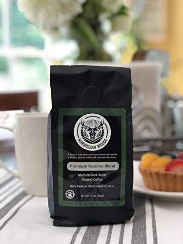 Ground Coffee by Norwegian Woods Coffee, Premium Reserve Blend, Great and Smooth Tasting Medium-Dark Roast Blend, 12 Ounce Bag, 100% Premium Arabica Beans by Norwegian Woods Coffee (Image #2)