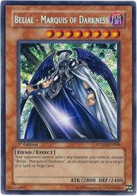 Yu-Gi-Oh! - Belial - Marquis of Darkness (PTDN-EN099) - Phantom Darkness - Unlimited Edition - Secret Rare