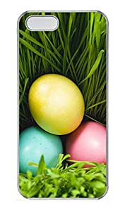 iPhone 5 5S Case Three Eggs And Grass PC Custom iPhone 5 5S Case Cover Transparent