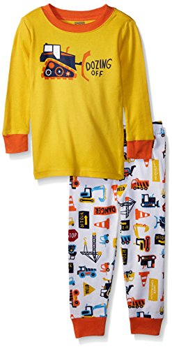 Gymboree Toddler Boys' 2-Piece Tight Fit Long Sleeve Pajama Set, DOZING Off Print, 2T