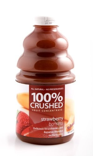 Dr Smoothie Strawberry Banana 100% Crushed Fruit Smoothie Concentrate (46oz bottle) by Dr. Smoothie