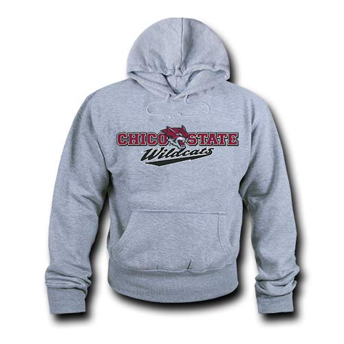 W Republic NCAA Cal State Chico Wildcats Unisex 503Game Day Hoodie, Heather Grey, X-Large