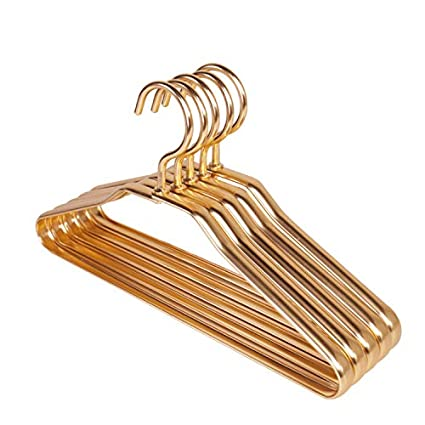 Hanging Clothes 30 cm Gold Wire Hanger Space Aluminum Alloy Anti-Corrosion Rust Coat and hat Standard Hanger Durable