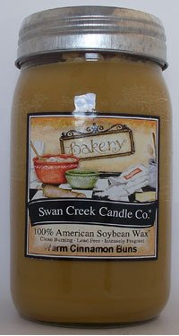 Swan Creek Candle Warm Cinnamon Buns 24 Oz Candle