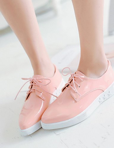 ZQ hug Zapatos de mujer-Tacón Plano-Comfort-Planos-Oficina y Trabajo / Vestido / Casual-Semicuero-Negro / Rosa / Blanco , pink-us8 / eu39 / uk6 / cn39 , pink-us8 / eu39 / uk6 / cn39 pink-us5.5 / eu36 / uk3.5 / cn35