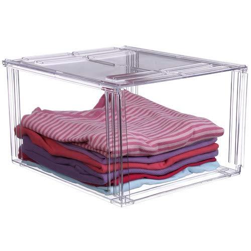 Crystal Clear Clothing Storage Bin