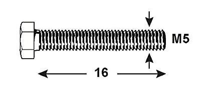 DIN 933 verzinkt 1000 g Connex Sechskantschrauben M10 x 80 mm KL4081080