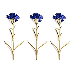 R STAR 24K Gold Foil Artificial Carnation Flowers in Gift Box, for Girlfriend, Thanksgiving, Party, Wedding, Mother's Day, Friends, Romantic Gift, One Box Including 3 Flowers 118