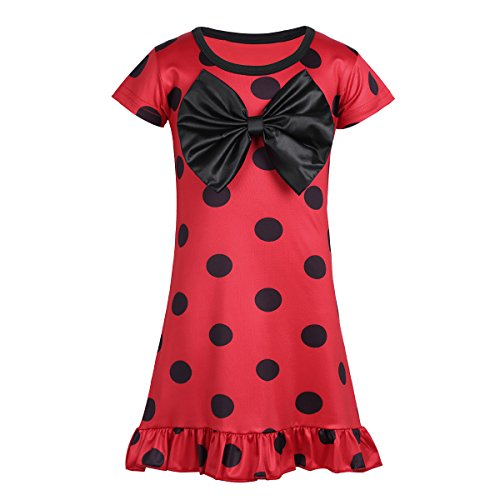 CHICTRY Girls Kids Lady Bug Girl Marinette Cosplay