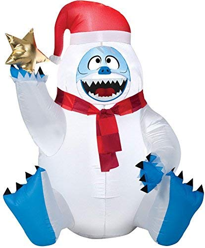 Gemmy Christmas Inflatable 4' Bumble W/Star Rudolph The Red Nosed Reindeer Airblown Decoration