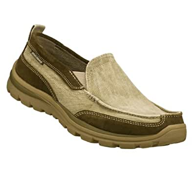 Skechers Relaxed Fit Superior Melvin Mens Boat Loafers Shoes Taupe 13