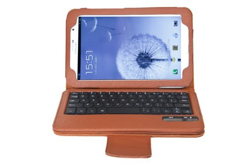 Qq Tech Keybook Removable Bluetooth Keyboard Case Pu Leather Tablet Stand For Samsung Galaxy Note 8 0 Brown Buy Online In Aruba At Aruba Desertcart Com Productid 25991626