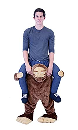 Costume Agent Men's Piggyback Sasquatch Ride-On Costume, Sasquatch, Adult Plus