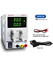 30V 5A DC Bench Power Supply Variable 3-Digital LED Display, Precision Adjustable Regulated Switching Power Supply