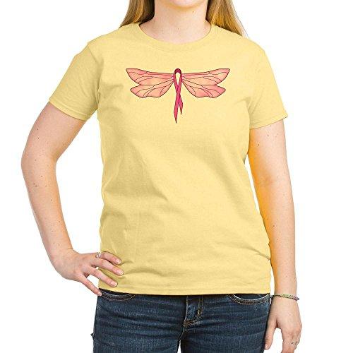 CafePress - Breast Cancer Dragonfly Women's Light T-Shirt - Womens Cotton T-Shirt, Crew Neck, Comfortable & Soft Classic Tee