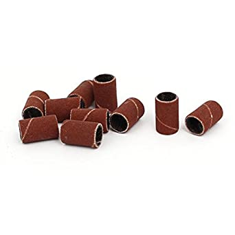 DealMux 1/4 polegadas x 1/2 polegadas a 600 para os grãos abrasivos lixar mangas lixa 10pcs Castanho Escuro: Amazon.com: Industrial & Scientific
