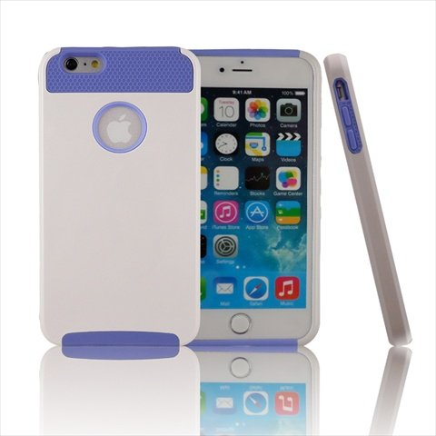 TCD for Apple iPhone 6 PLUS Hybrid [WHITE BLUE] Rugged Protective Defender Series Combo Case Cover Multiple Layers Shock Ultimate Protection [Includes FREE SCREEN PROTECTOR AND STYLUS PEN]
