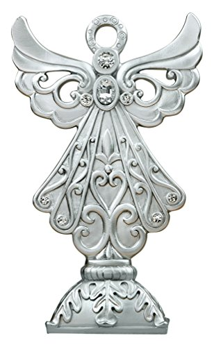 (Fashioncraft Stunning Angel Statue in Silver Poly)