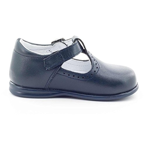 Boni Classic Shoes - Zapatos de cordones de cuero para niña Azul