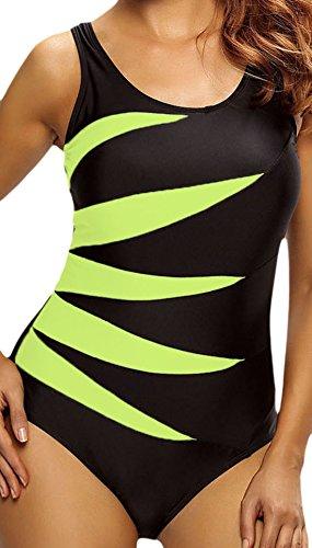 Frieda Fashion - Traje de una pieza - Opaco - para mujer amarillo