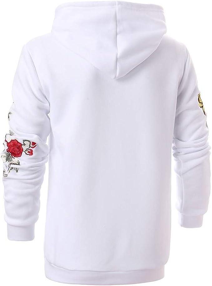 Giulogre Homme Sweat-Shirts Yoga Spandex V/êtements de Sport en Broderie L/âche Coton Sweats /À Capuche Casual Polyester Couleur Pure Slim Fit Top Maillot