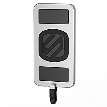 Scosche MagicMount PowerBank- Magnetically Mounted Portable Charger and Backup Battery for Lightning Devices- Space Gray