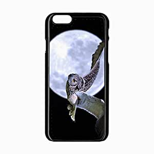 iPhone 6 Black Hardshell Case 4.7inch owl predator flight Desin Images Protector Back Cover