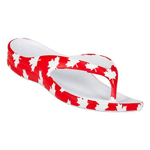 Dawgs Kvinners Damene Flip Flop Canada (rød / Hvit)