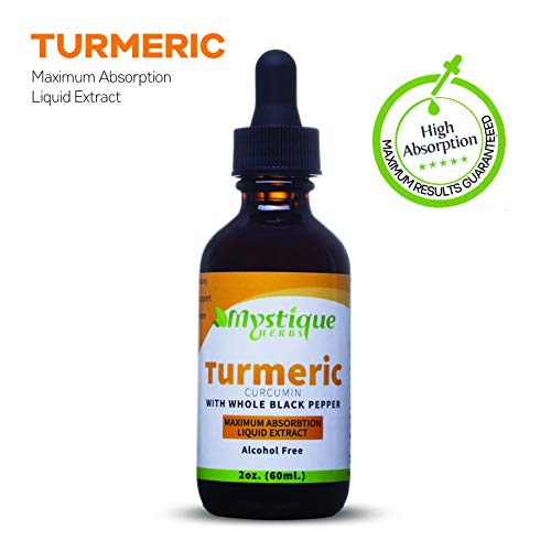 (Turmeric Curcumin Liquid Extract Supplement Made with Organic Turmeric and black pepper as a bioperine. Natural Anti-inflammatory supplement for Joint Pain and Back Pain Relief. Best tincture for kids)