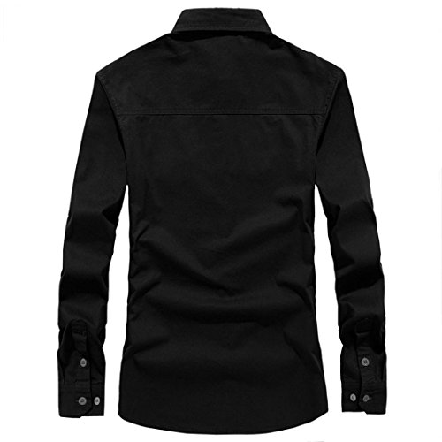 Ximandi Men's Business Casual Long Sleeves Dress Shirts Men Office Wear by Ximandi (Image #1)