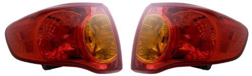 Toyota Corolla 09-10 Pair Set Left & Right Rear Brake Taillights Taillamps (Toyota Corolla Lighthouse)