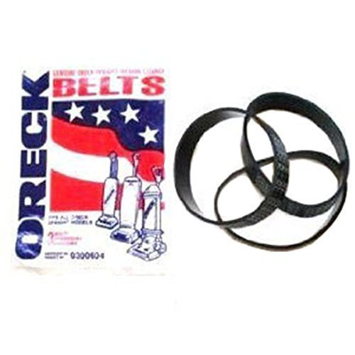 Genuine Oreck Vacuum Cleaner Upright Hoover Belts (Pack of 3)