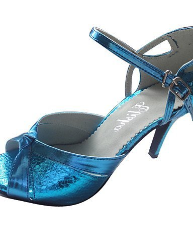 ShangYi Maßgefertigter Absatz - Kunstleder - Latin - Damen Blue
