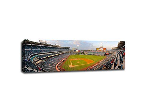 Angel Stadium of Anaheim - Baseball Field - 48x16 Gallery Wrapped Canvas Wall Art