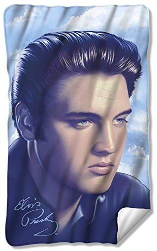 (Elvis - Big Portrait Fleece Blanket 35 x 57in)