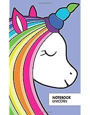 Unicorn Notebook - Ruled Pages - 5x8 - Premium (Indigo)