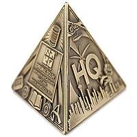 Unbekannt 3D Trifecta Geocoin- Antique Bronze Geocaching trackable