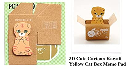 jo s new 1 mini cute 3d cartoon kawaii cats and dogs memo pad box