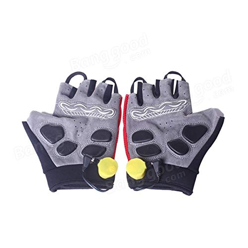 Bicycle Bike Cycling Gloves LED Lighting Half Finger Gloves by Anddoa (Image #3)