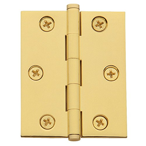 Baldwin Estate 1025.030.BAL Cabinet Hinge in Polished Brass, 2.5