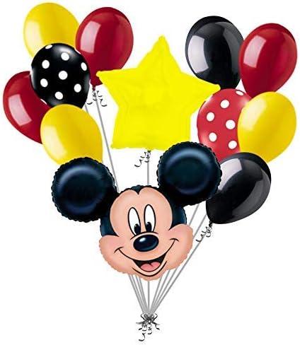 Amazon.com: 12 pieza tema de Mickey Mouse Globo Ramo ...