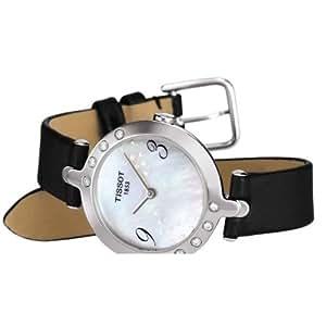 Tissot Flamingo T0032096711200 - Reloj de mujer de cuarzo, correa de piel color negro