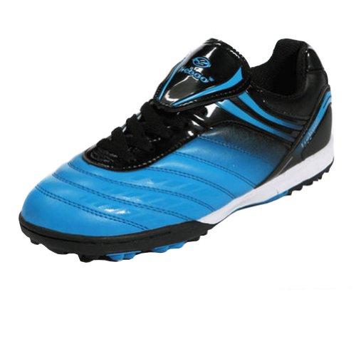 Tiebao Jungen harter Boden Indoor Geschwindigkeit Blau Lackleder Fußballschuh EU30