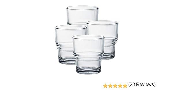 Duralex Bistro - Juego de 4 vasos de baño (210 ml, 21 cl), vidrio endurecido, vidrio templado: Amazon.es: Industria, empresas y ciencia