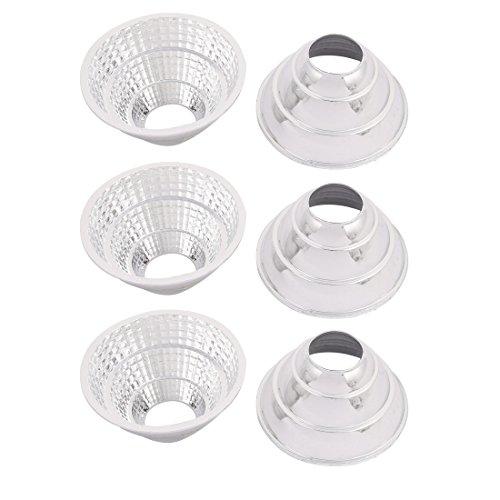 Aexit 6pcs Plastic Lighting fixtures and controls COB LED Flashlight Light Lamp Reflector 70mmx23mmx36mm Step-shape