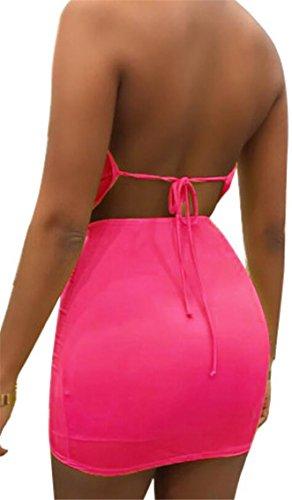Women Slim Sexy Dress Neck Stylish V Deep 1 Two Piece Jaycargogo dUqIwU