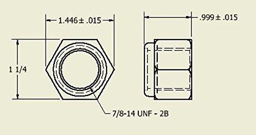 Aggressive Hydraulics 4520012162 2-Inch Nylon Inserted Lock Nut