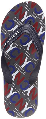 Hilfiger City Beach Midnight Bleu Sandal Tongs 403 Print Tommy Homme RSqawd